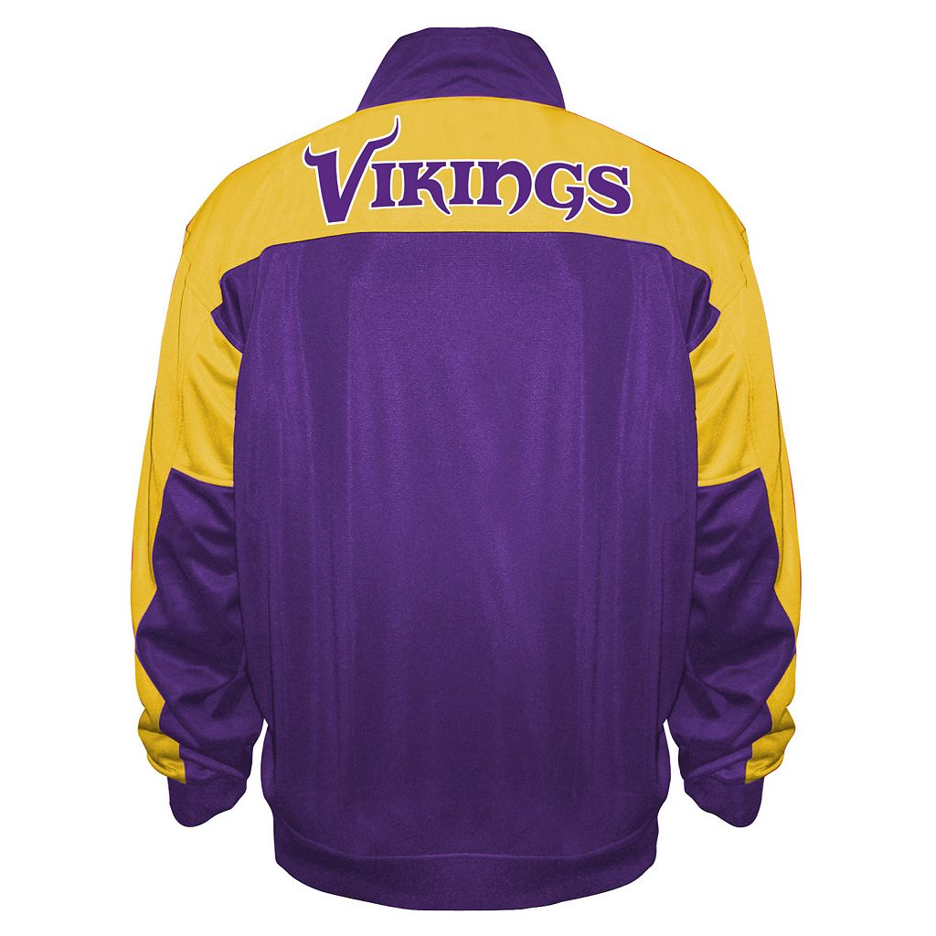 Big & Tall Majestic Minnesota Vikings Back Track Tricot Jacket