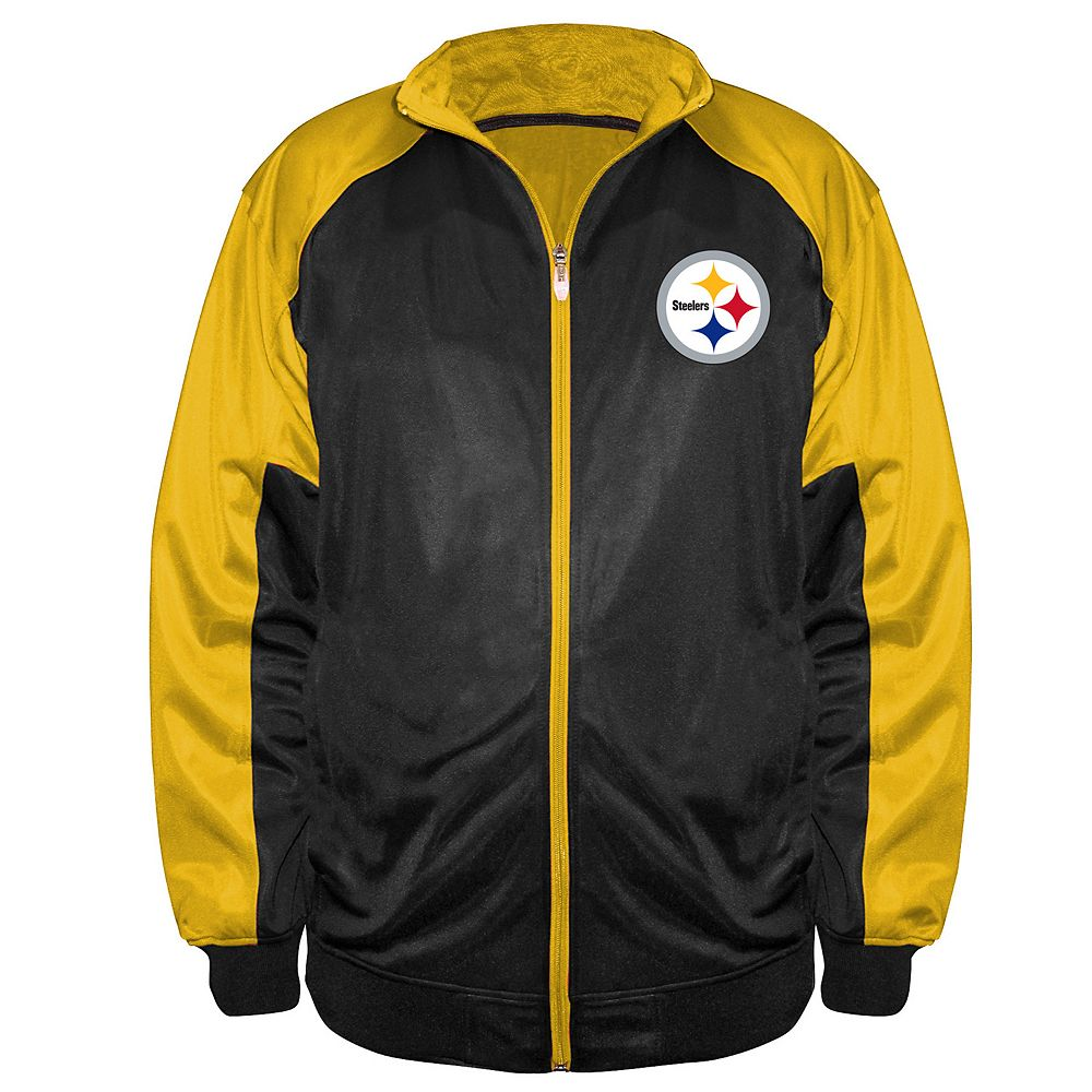 sports shoes 4c279 9b83a Big & Tall Majestic Pittsburgh Steelers Back Track Tricot Jacket