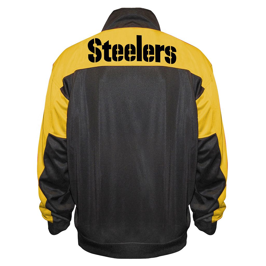 Big & Tall Majestic Pittsburgh Steelers Back Track Tricot Jacket