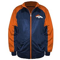 Big & Tall Majestic Denver Broncos Back Track Tricot Jacket