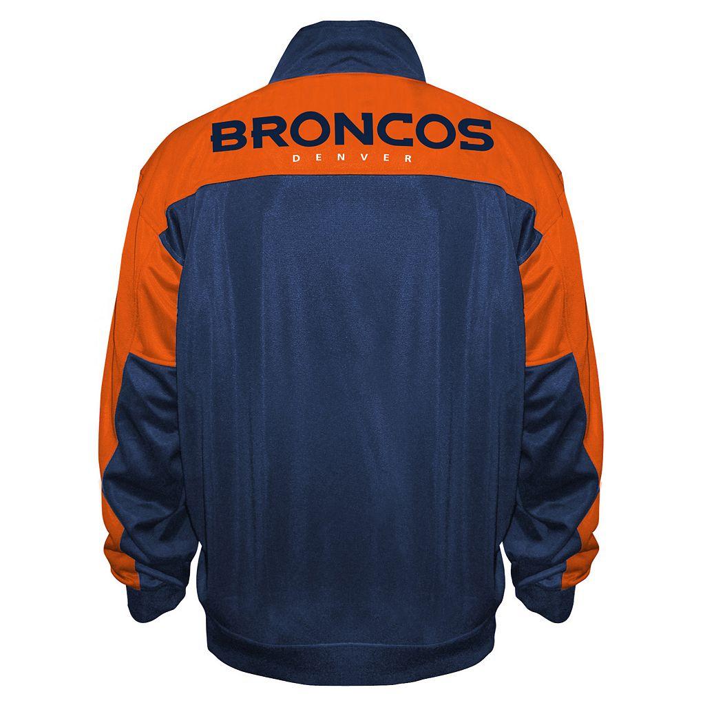Big & Tall Majestic Denver Broncos Back Track Tricot Jacket