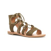 SO® Women's Lace-Up Gladiator Sandals