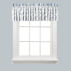 Saturday Knight, Ltd. Snow Flurries Snowflake Kitchen Window Valance