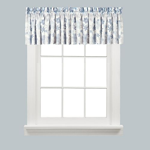Saturday Knight, Ltd. Snow Flurries Snowflake Kitchen Window Valance