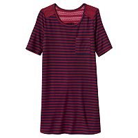 Girls Plus Size Mudd® Crochet Swing T-Shirt Dress