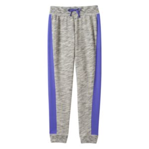 Girls Plus Size SO® French Terry Colorblock Jogger Pants