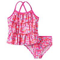 Girls 4-6x OshKosh B'gosh® Multi-Heart Print Tankini Top & Bottoms Swimsuit Set