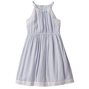 Girls 4-8 SONOMA Goods for Life™ High Neck Cinched Dress