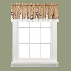 Saturday Knight, Ltd. Aspen Holiday Snowman Kitchen Window Valance