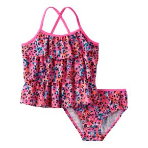 Girls 4-6x OshKosh B'gosh® Animal Print Tankini Top & Bottoms Swimsuit Set