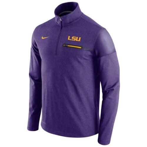 Men's Nike LSU Tigers Elite Coaches Dri-FIT Pullover