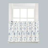 Saturday Knight, Ltd. Snow Flurries Snowflake Tier Kitchen Curtain Set