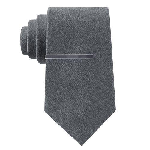 Men's Croft & Barrow® Solid Heather Tie and Tie Bar Set