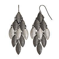 Apt. 9® Textured Two Tone Marquise Kite Earrings