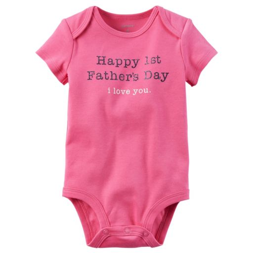 """Baby Girl Carter's """"Happy First Father's Day"""" Bodysuit"""