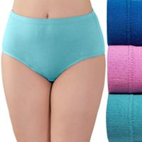 Plus Size Fruit of the Loom Fit for Me 3-pack Breathable Cotton Briefs 3DSBCBR