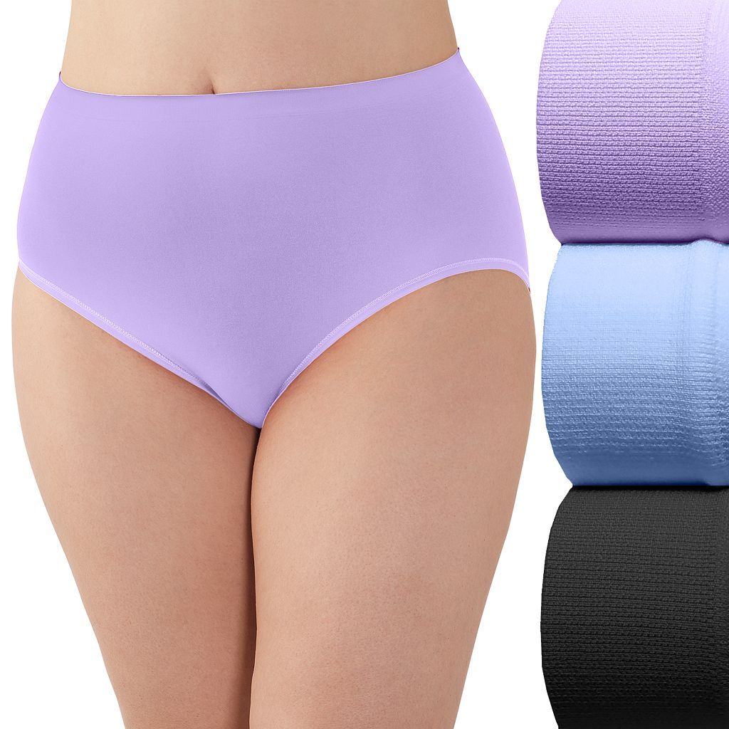 Plus Size Fruit of the Loom Fit for Me 3-pack Seamless Briefs 3DSUSBP