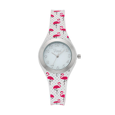 Vivani Women's Pink Flamingo Watch