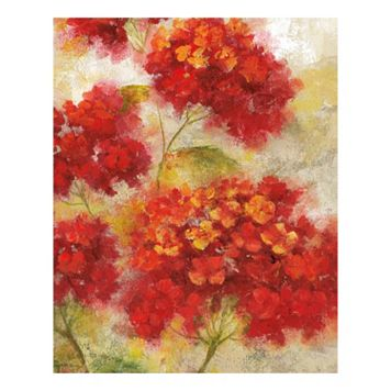 Red Floral I Canvas Wall Art