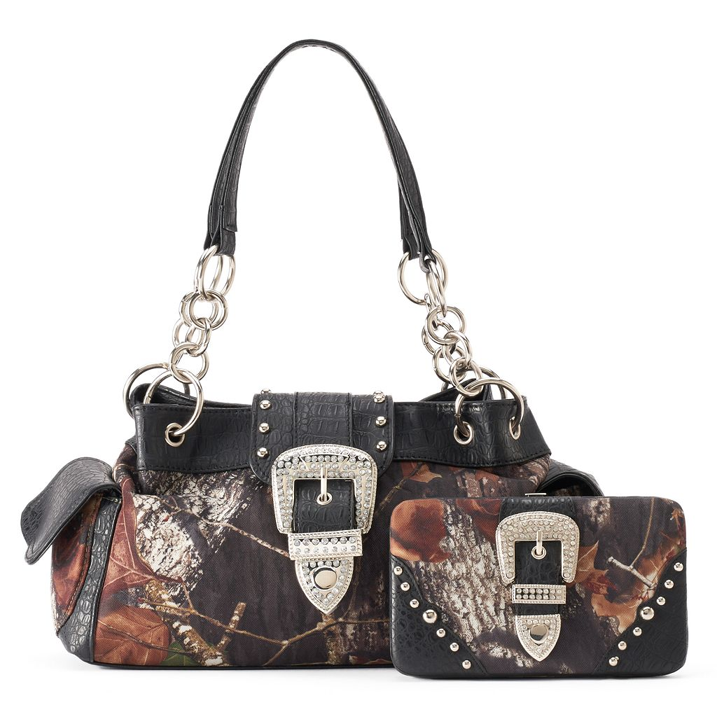Mossy Oak Naomi Camouflage Tote with Wallet