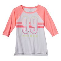 Girls Plus Size SO® Raglan Baseball Graphic Tee
