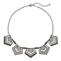 Glittery Geometric Statement Necklace