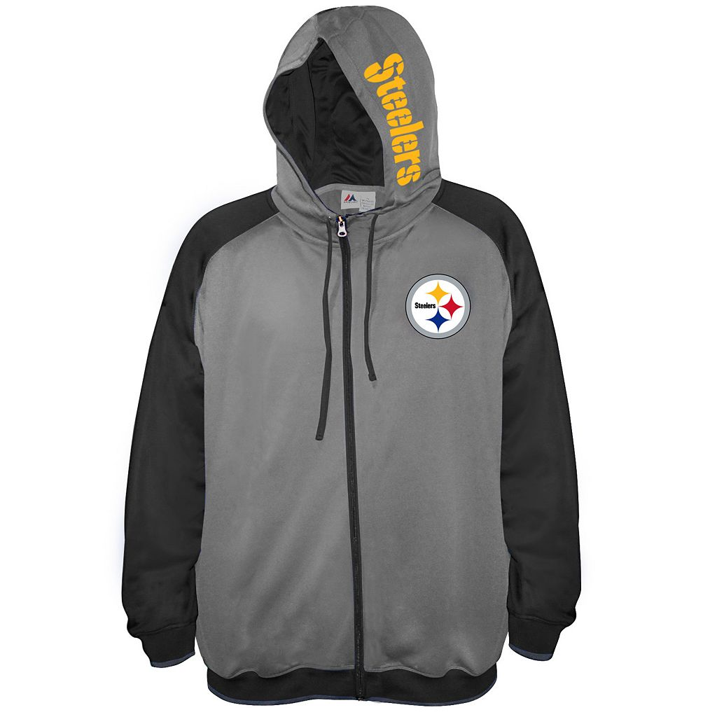 Big & Tall Majestic Pittsburgh Steelers Fleece Full-Zip Hoodie