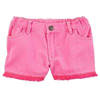 Girls 4-8 Carter's Fringe Twill Shorts