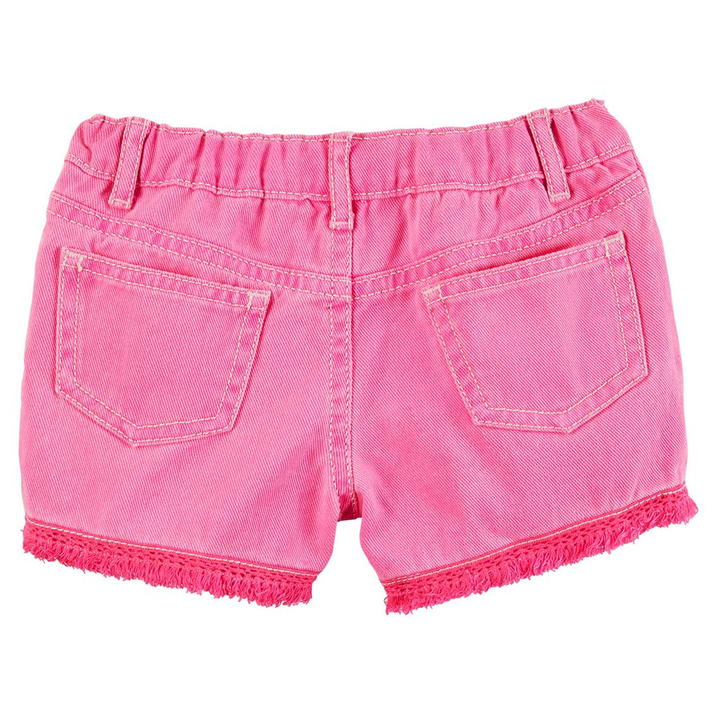 Girls 4-8 Carter's Fringe Twill Shorts