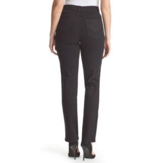 Petite Gloria Vanderbilt Amanda Classic Fit Embellished Tapered Jeans