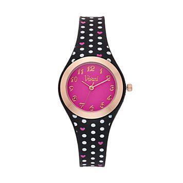 Vivani Women's Polka Dots & Hearts Watch