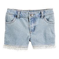Girls 4-8 Carter's Fringe Denim Shorts