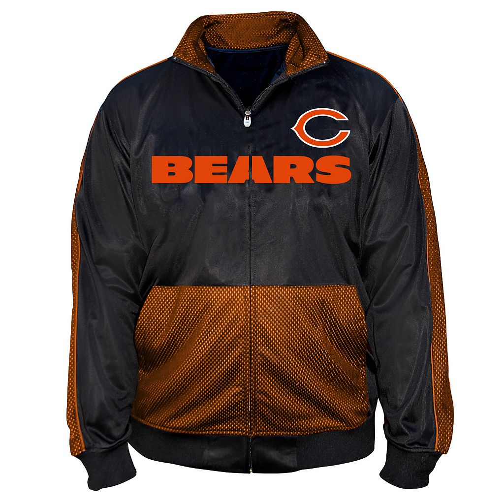 Big & Tall Majestic Chicago Bears Panel Tricot Track Jacket