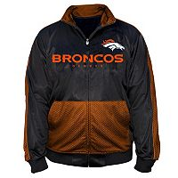 Big & Tall Majestic Denver Broncos Panel Tricot Track Jacket