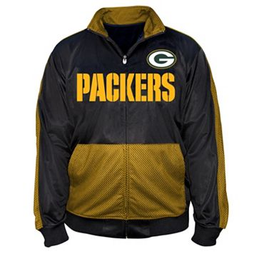 Big & Tall Majestic Green Bay Packers Panel Tricot Track Jacket
