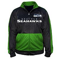 Big & Tall Majestic Seattle Seahawks Panel Tricot Track Jacket