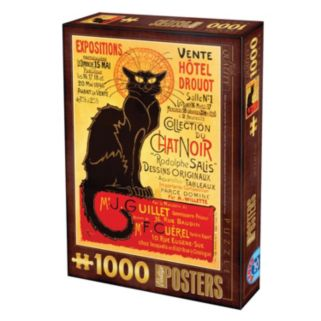 """""""Chat Noir"""" Vintage Poster 1000-pc. Jigsaw Puzzle by D-Toys"""