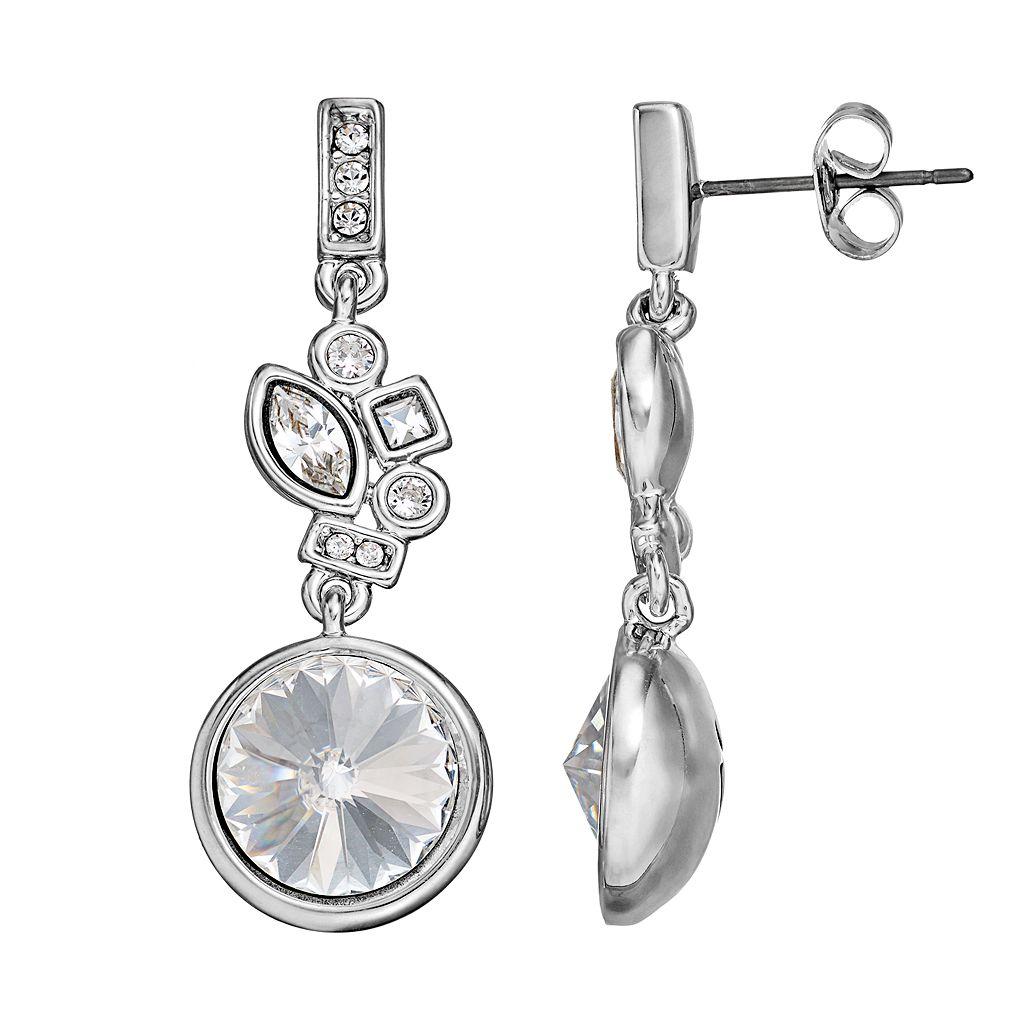 Simply Vera Vera Wang Cluster Drop Earrings with Swarovski Crystals