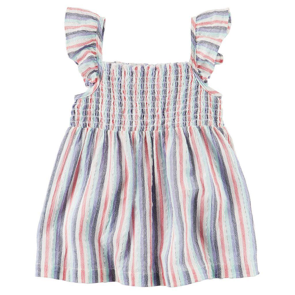 Girls 4-8 Carter's Striped Smocked Top