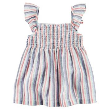 Girls 4-8 Carter's Striped Smocked Top