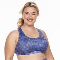 Plus Size Tek Gear® Bra: Low-Impact Racerback Sports Bra