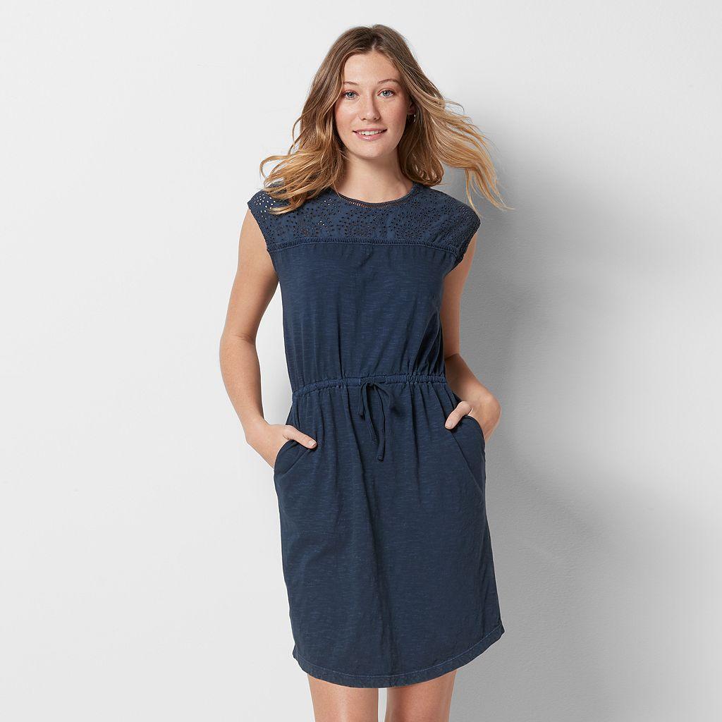 Women's SONOMA Goods for Life™ Eyelet Drawstring Dress