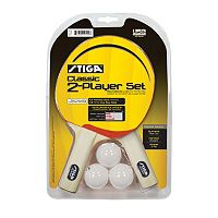 STIGA 2-Player Classic Table Tennis Paddle Set