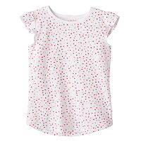 Girls 4-10 Jumping Beans® Pattern Flutter Sleeves Tee