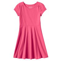 Toddler Girl Jumping Beans® Solid Skater Dress
