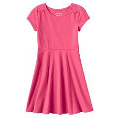 Toddler Girl Jumping Beans® Solid Skater Dress