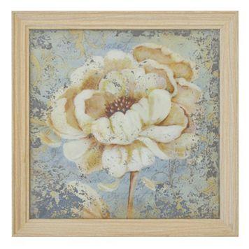New View Flower Print on Mirror Framed Wall Art