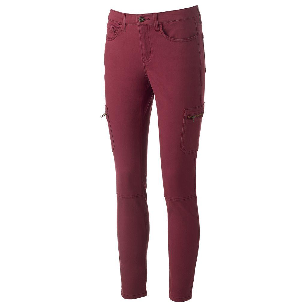 Juniors' Mudd® Cargo Utility Skinny Pants