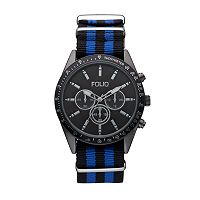 Folio Men's Striped Watch