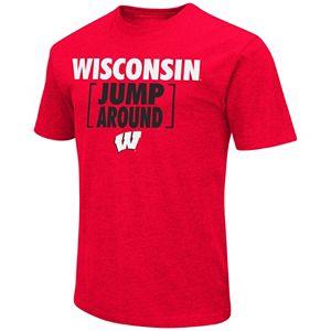 Men's Campus Heritage Wisconsin Badgers War Cry Brackets Tee
